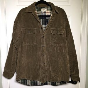 J. Crew Corduroy Flannel Lined Button Down Jacket